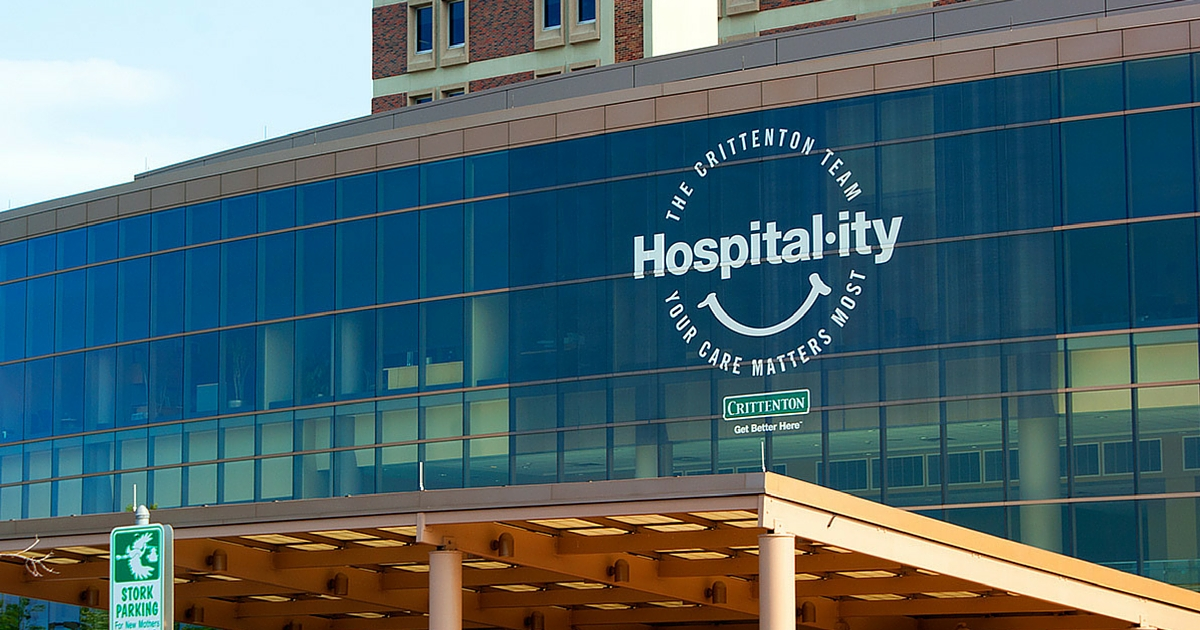 """PUSH 22's work for Crittenton Hospital Medical Center honored with two advertising awards for the development of the hospital's """"hospital-ity"""" advertising campaign"""