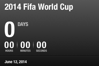 We're counting down to the 2014 World Cup!