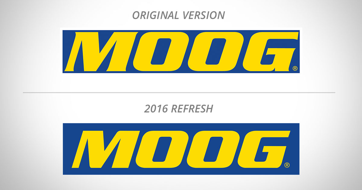 Original and New MOOG logos